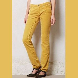 AG Jeans: The Stevie Slim Straight Yellow Corduroy